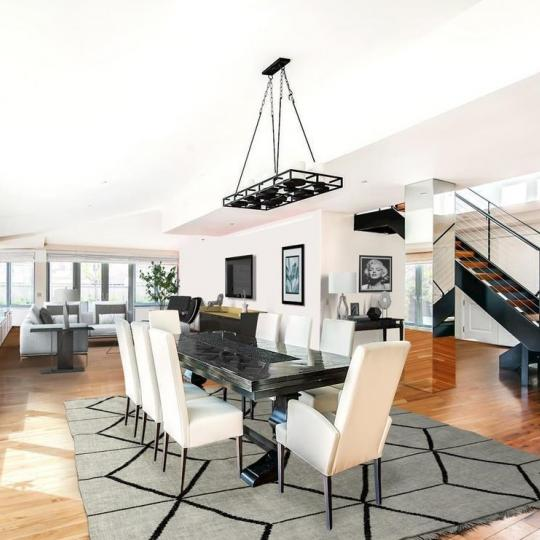 Living Room at The O'Neill Building in NYC - Condos for sale