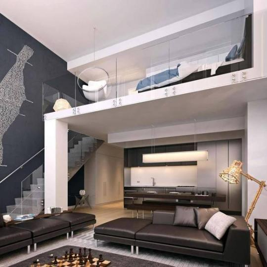 540 West 49th Street - Living Room Layout