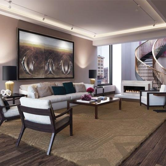 66 East 11th Street- Living Room- Condominiums for sale in NYC