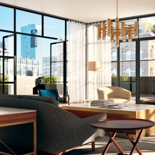 Living Room of 71 Laight Street in Tribeca - NYC Apts for sale