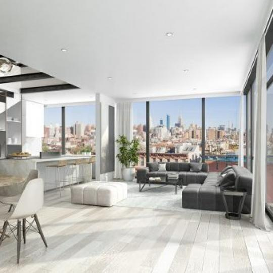 Living Area at75 First Avenue in East Village - Condos for sale