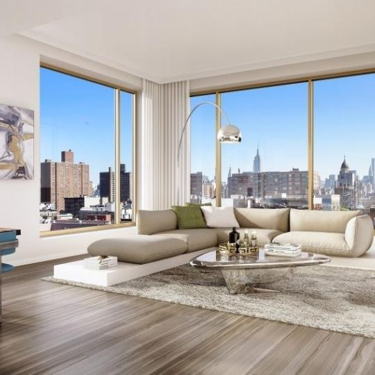 Living Room at 75 Kenmare Street in Manhattan - Apartments for rent