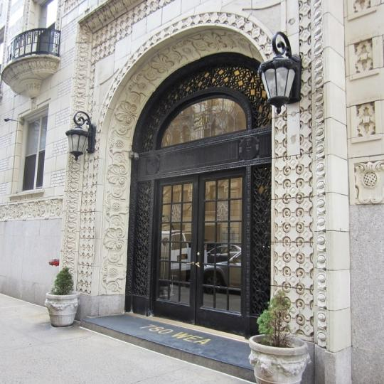 The Building's Entry at 780 West End Avenue in Upper West Side