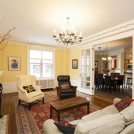 Living Room at 780 West End Avenue in Manhattan