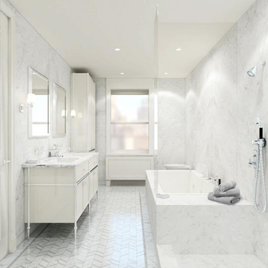 Bathroom at 78 Irving Place in Gramercy Park
