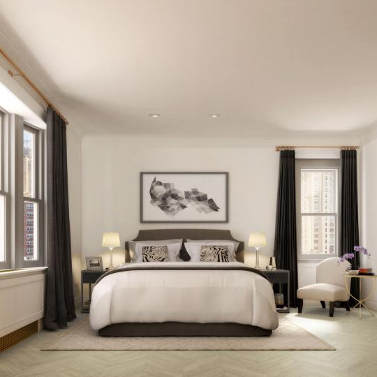 Bedroom at 78 Irving Place in NYC