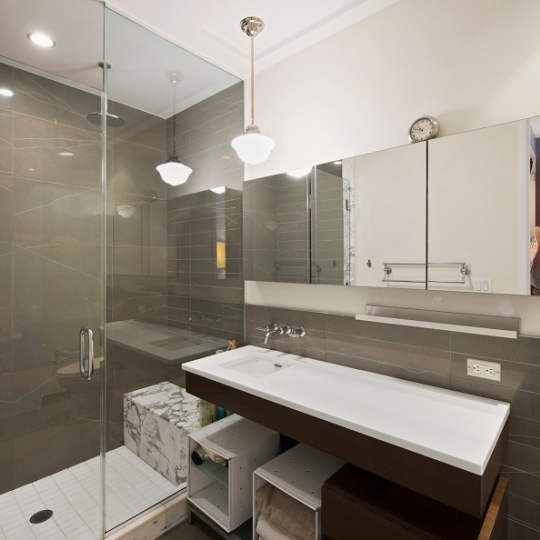 The Bathroom at 80 Metropolitan Ave - Condos for sale in NYC