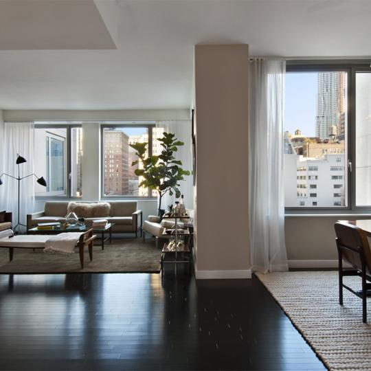 Living Room - Smith Upstairs - Luxury Condos - Tribeca