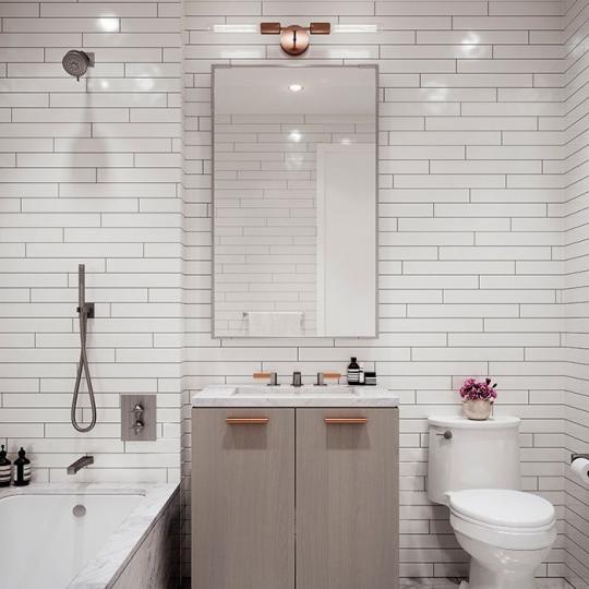 Bathroom at 91 Leonard Street in Manhattan - Condos for sale