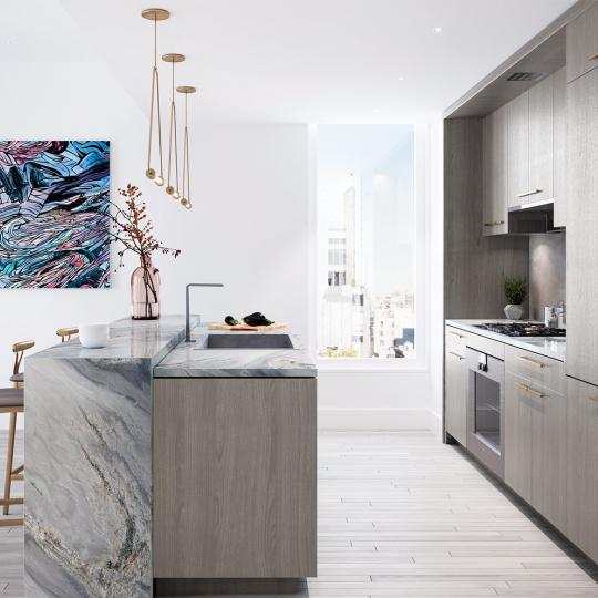 Condos for sale at 91 Leonard Street in NYC - Open Kitchen