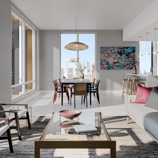 Living Room at 91 Leonard Street in Manhattan - Apartments for sale