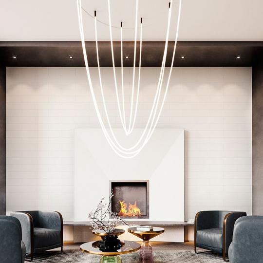 Lounge at 91 Leonard Street in Tribeca - Condos for sale