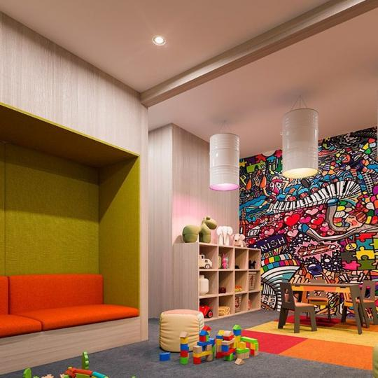 Children's Playroom at 91 Leonard Street in NYC - Condos for sale