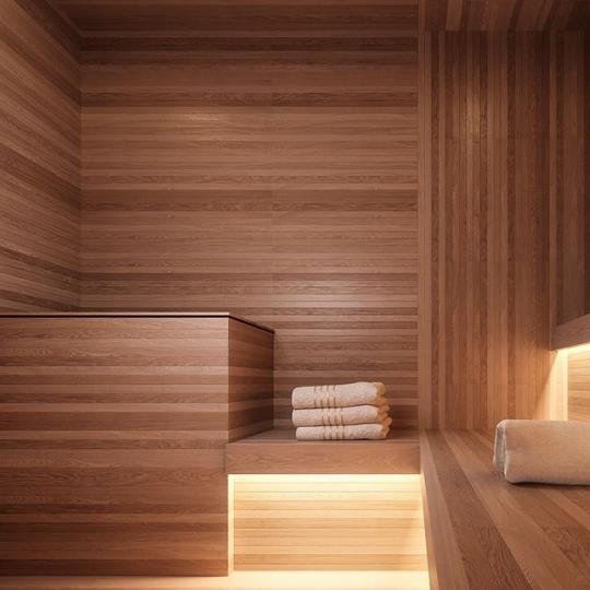 Sauna at 91 Leonard Street in NYC - Apartments for sale