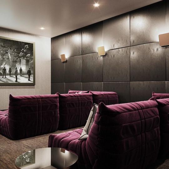 Condos for sale at 91 Leonard Street in Tribeca - Cinema Room