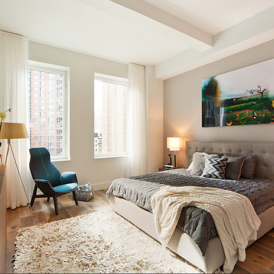93 Worth Bedroom - Tribeca Luxury Apartment