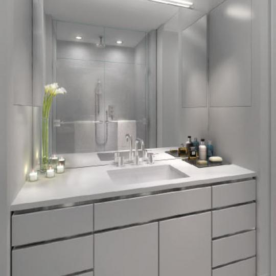 14W14 New Construction Building Bathroom - NYC Condos