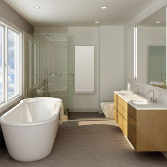 Chelsea Modern Bathroom - Chelsea NYC Condominiums