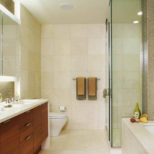 The Visionaire New Construction Building Bathroom - NYC Condos