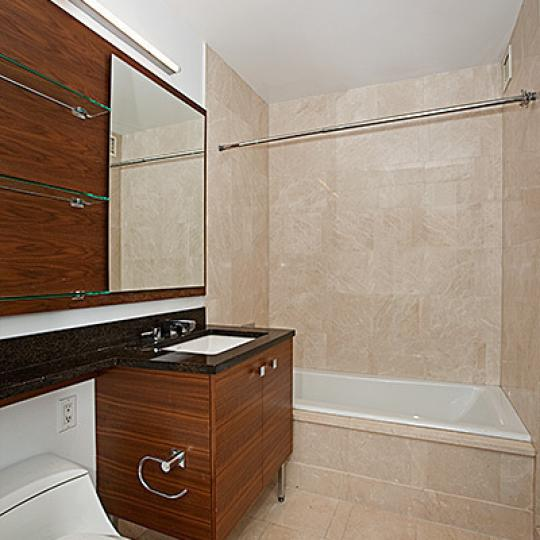 Trump Place New Construction Building Bathroom - NYC Condos