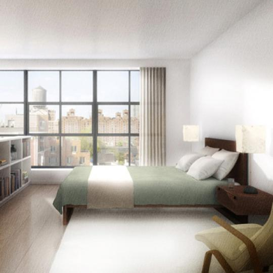456 West 19th Street New Construction Building Bedroom – NYC Condos