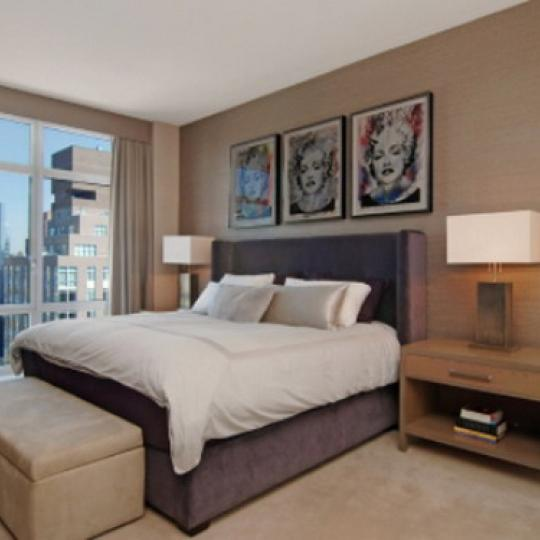 555 West 59th Street Bedroom – NYC Condos for Sale