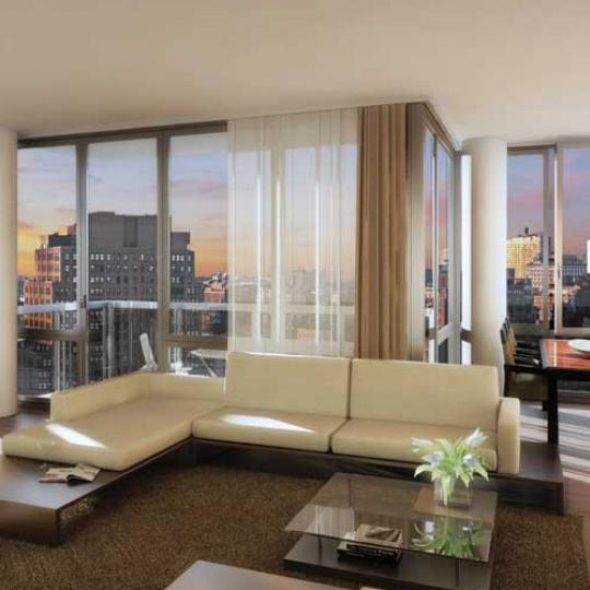 Chelsea Stratus Condos Living Room - New Condos for Sale NYC