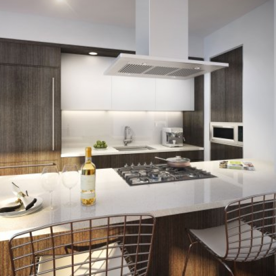 Chelsea Green Kitchen At 151West 21st Street - Luxury New Construction Manhattan