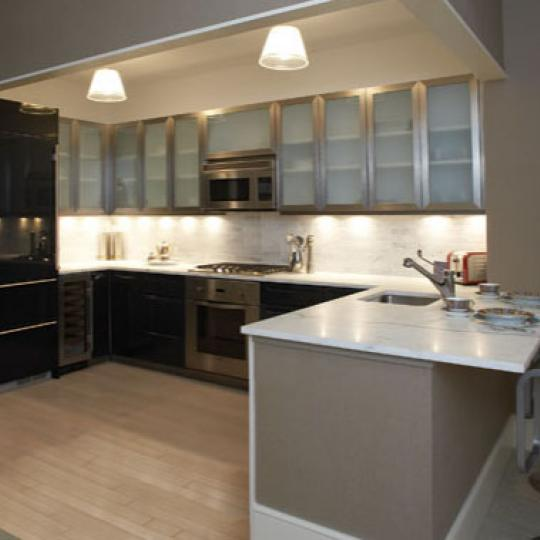 80 Riverside Boulevard NYC Condos - Contemporary Kitchen at The Rushmore