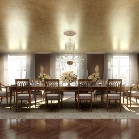 535 West End Avenue New Construction Building Dining Area – NYC Condos