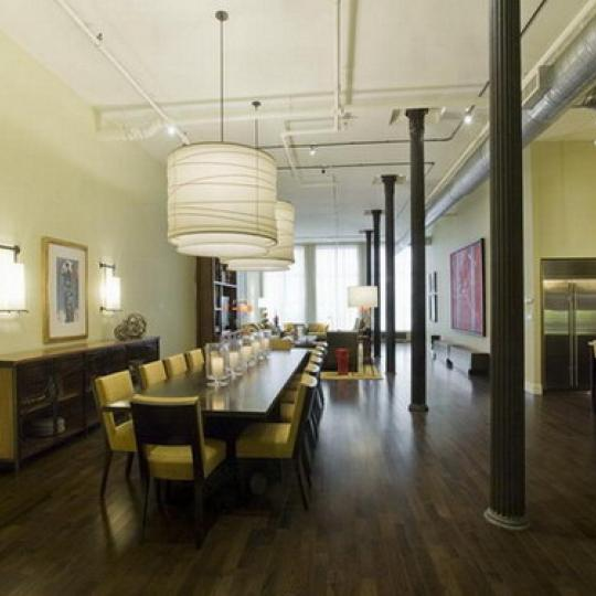 Diamond on Duane New Construction Building Dining Area – NYC Condos
