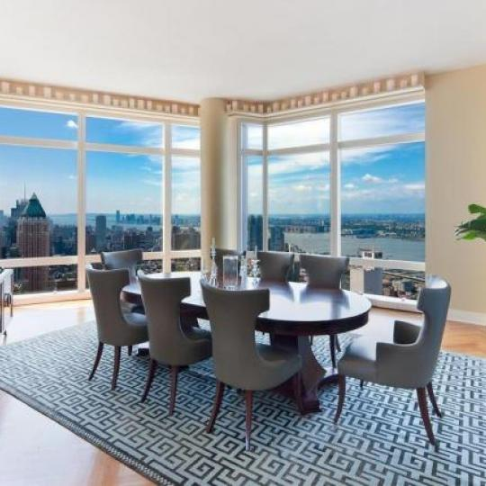 Residences at Mandarin Oriental Dining Area - 80 Columbus Circle Condos for Sale