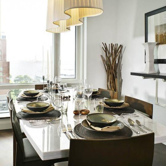 70 Little West Street Dining Area - NYC Condos for Sale