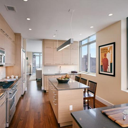 Azure Kitchen Area – Condominiums for Sale NYC