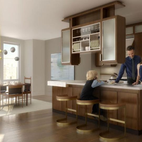 The Aldyn Kitchen Area - New Condos for Sale NYC