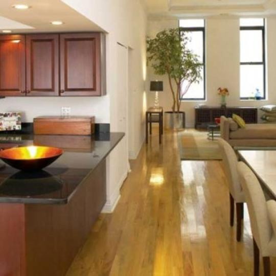 Tribeca Space Kitchen and Dining Area - 25 Murray Street Condos for Sale