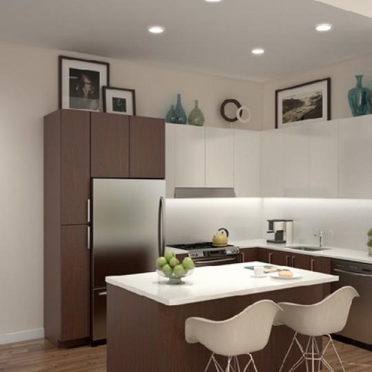 PS90 Kitchen Area – New Condos for Sale NYC