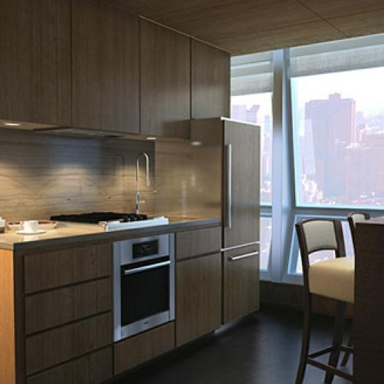 400 Fifth Avenue Kitchen Area – Midtown West NYC Condominiums
