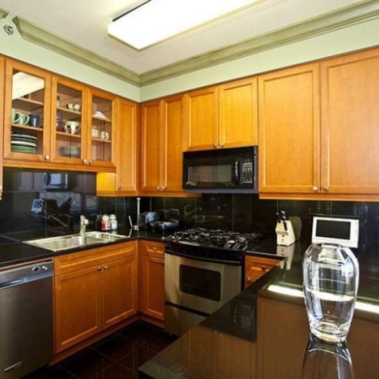 Trump Place Kitchen - Upper West Side NYC Condominiums