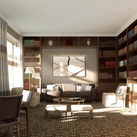 535 West End Avenue Library – NYC Condos for Sale