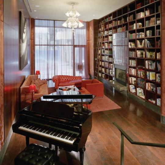 88 Greenwich Street Library – NYC Condos for Sale