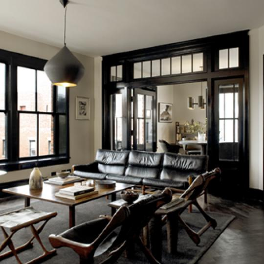 211 Elizabeth Street Living Room – SoHo NYC Condominiums