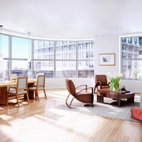 240 Park Avenue South New Construction Building Living Room – NYC Condos