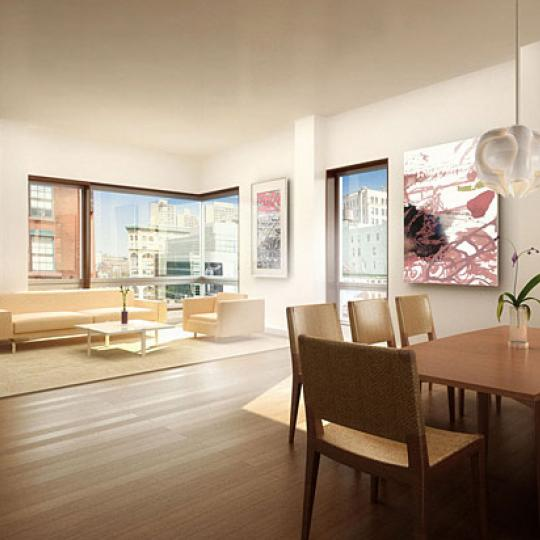 290 Mulberry Street Living Room – NYC Condos for Sale