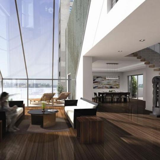385 West 12th Street Living Room – Manhattan New Condos