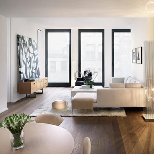 40 Bond Street  New Construction Building Living Room– NYC Condos