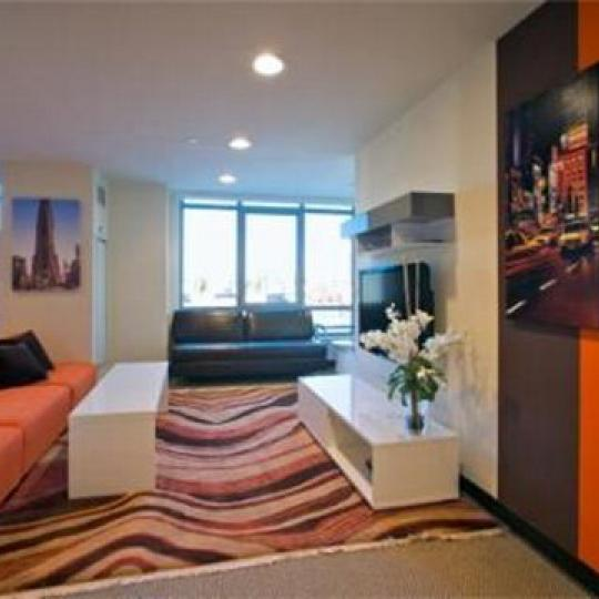 5th on the Park Living Room – New Condos for Sale NYC