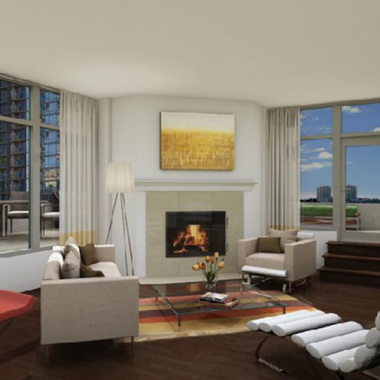 243 West 60th Street Living Room – Manhattan New Condos