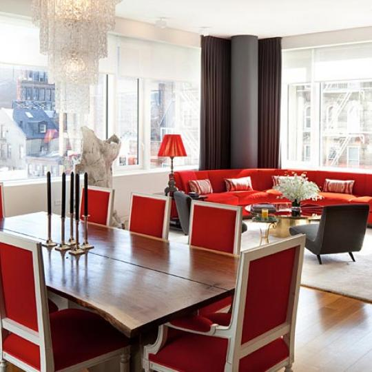 350 West Broadway Living and Dining Area – Manhattan New Condos