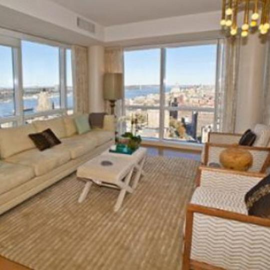 Ariel East New Construction Building Living Room – NYC Condos
